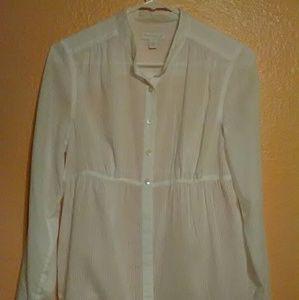 Charter club white sheer blouse